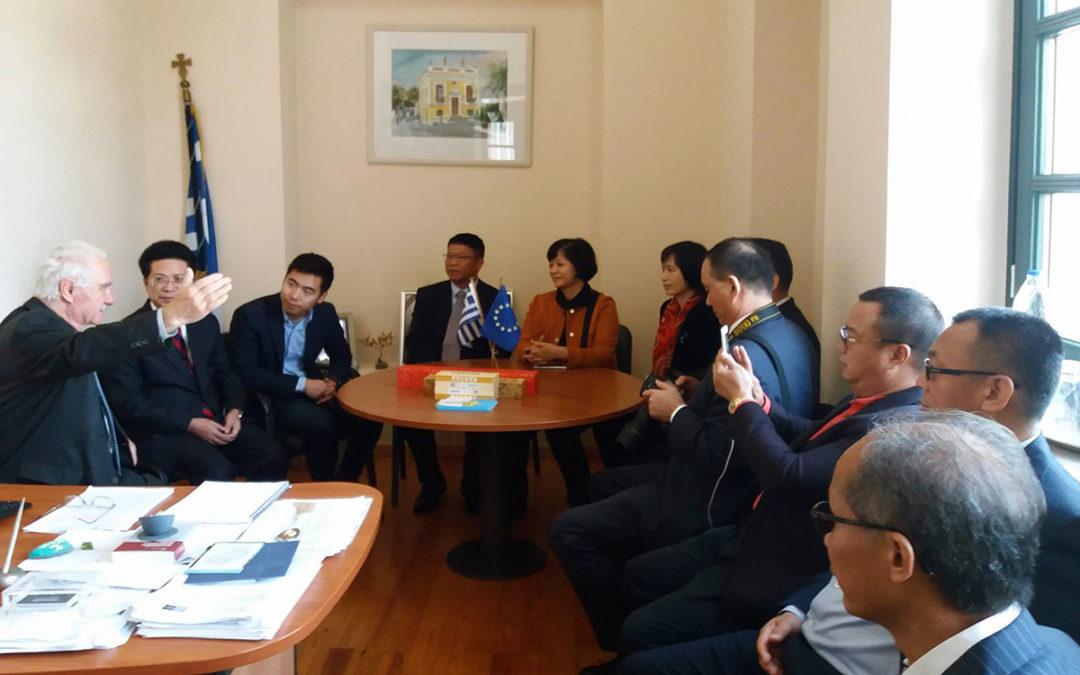 Επίσκεψη Ελληνοκινεζικής Ένωσης στην Κέα